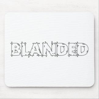 None Brand Blanded Slogan Mouse Pad