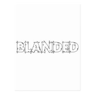 None Brand Blanded Slogan Postcard