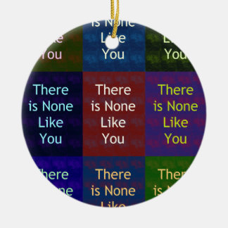 None Like You Double-Sided Ceramic Round Christmas Ornament