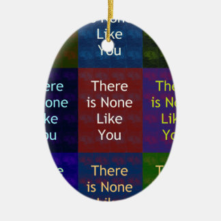 None Like You Double-Sided Oval Ceramic Christmas Ornament