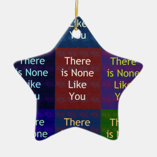None Like You Double-Sided Star Ceramic Christmas Ornament