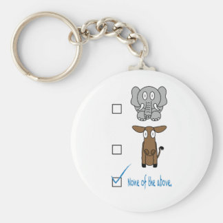 None of the Above Basic Round Button Keychain