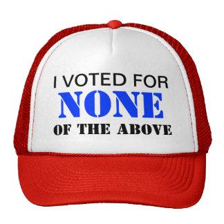 NONE OF THE ABOVE Patriotic Trucker Cap EDL004 Trucker Hat