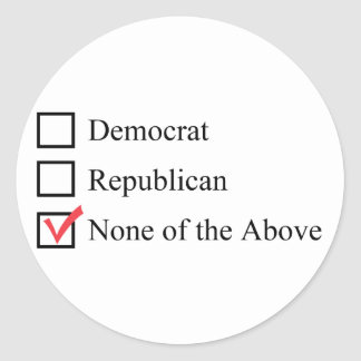 None of the Above stickers
