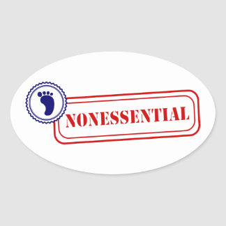 Nonessential • Food Safety Oval Sticker
