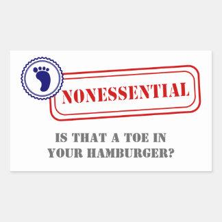 Nonessential • Food Safety Rectangular Sticker