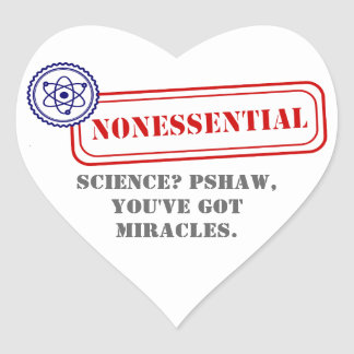 Nonessential • Science Heart Sticker