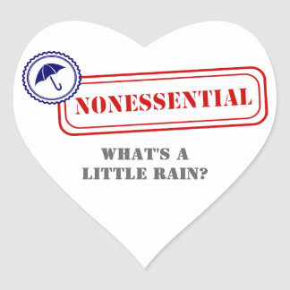 Nonessential • Weather the Storm Heart Sticker