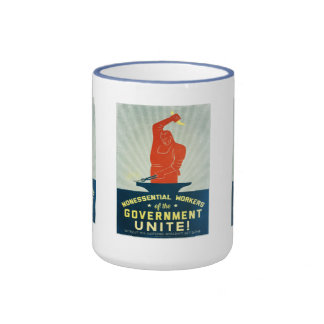 Nonessential Workers of the Government Unite Ringer Coffee Mug