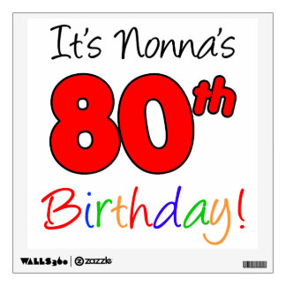 Nonna 80th Milestone Birthday Party Decoration Wall Decal