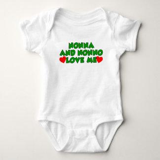 Nonna And Nonno Love Me Baby Bodysuit