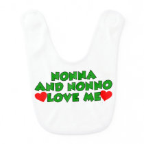 Nonna And Nonno Love Me Bib