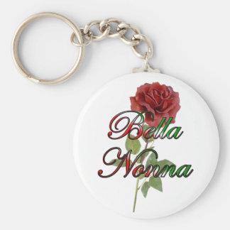 Nonna (Beautiful Italain Grandmother) Basic Round Button Keychain