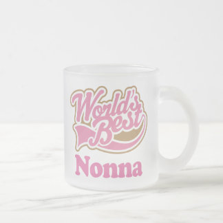 Nonna Gift Pink Frosted Glass Coffee Mug