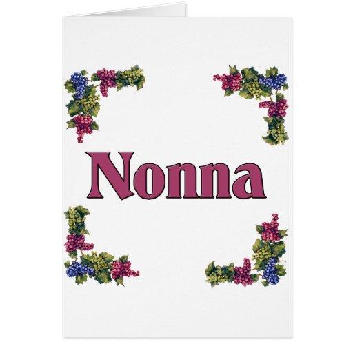 Nonna (Italian Grandmother) Card