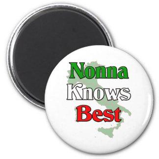 Nonna (Italian Grandmother)m Knows Best Magnet
