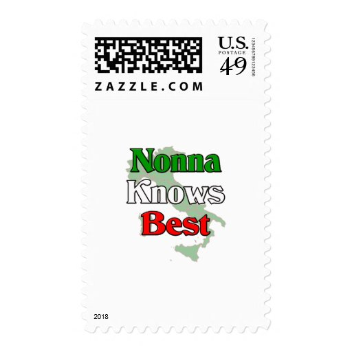 Nonna (Italian Grandmother)m Knows Best Stamps