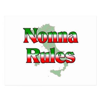 Nonna (Italian Grandmother) Rules Postcard