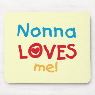 Nonna Loves Me T-shirts and Gifts Mouse Pad