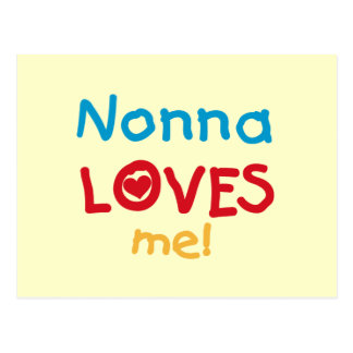 Nonna Loves Me T-shirts and Gifts Postcards
