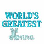 Nonna más grande del mundo chaquetas bordadas