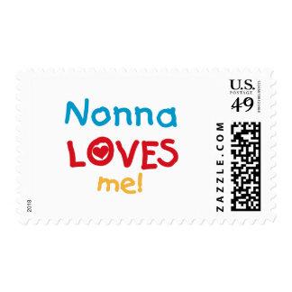 Nonna me ama las camisetas y los regalos timbres postales