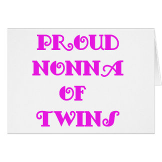 Nonna of_Twins Greeting Card