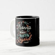 Nonna The Legend Two-Tone Coffee Mug