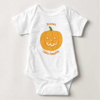 Nonna's Little Pumpkin Baby Vest Baby Bodysuit