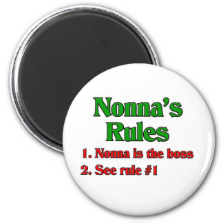Nonna's Rules Magnet