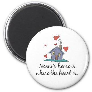 Nonni apos el hogar de s es donde está el corazón imán