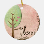 nonni heart tree pink christmas ornament