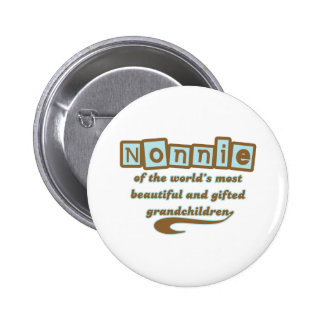 Nonnie of Gifted Grandchildren Pinback Buttons