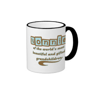 Nonnie of Gifted Grandchildren Ringer Coffee Mug