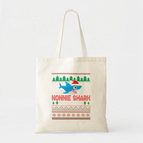 Nonnie Shark Doo Doo Doo Grandma Santa Hat U Tote Bag