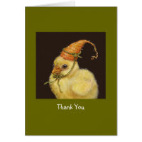 Nonnie the peep thank you notecard