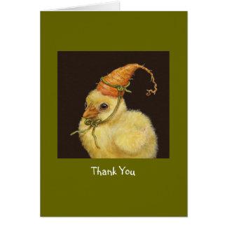 Nonnie the peep thank you notecard