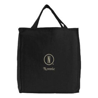Nonnie's Embroidered Tote Bag