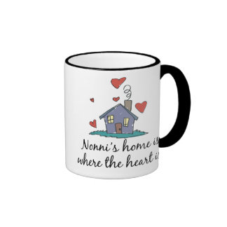 Nonni's Home  is Where the Heart is Ringer Coffee Mug