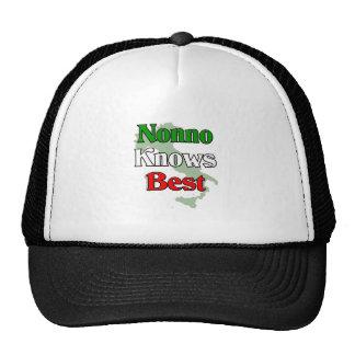 Nonno (abuelo italiano) sabe mejor gorras