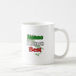 Nonno (abuelo italiano) sabe mejor taza de café