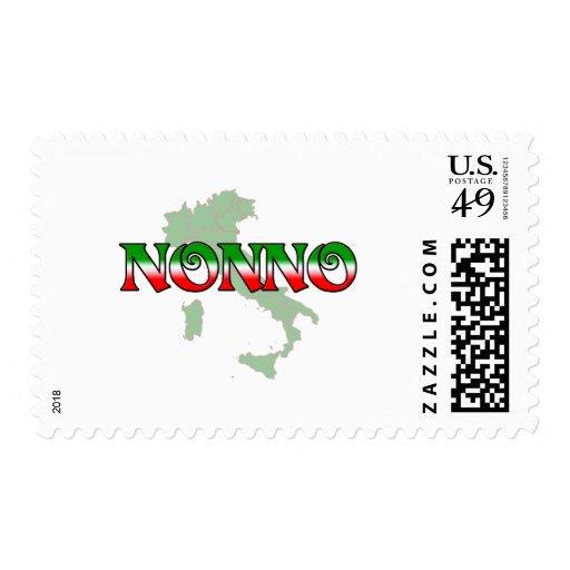 Nonno (abuelo italiano) timbres postales