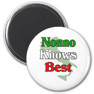 Nonno (Italian Grandfather) Knows Best Magnet