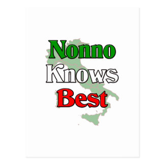 Nonno (Italian Grandfather) Knows Best Postcard