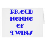 Nonno of_Twins Greeting Card