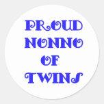 Nonno of_Twins Round Stickers