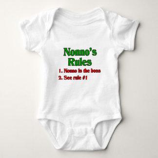 Nonno's (Italian Grandfather) Rules Baby Bodysuit