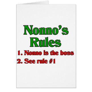 Nonno's (Italian Grandfather) Rules Card