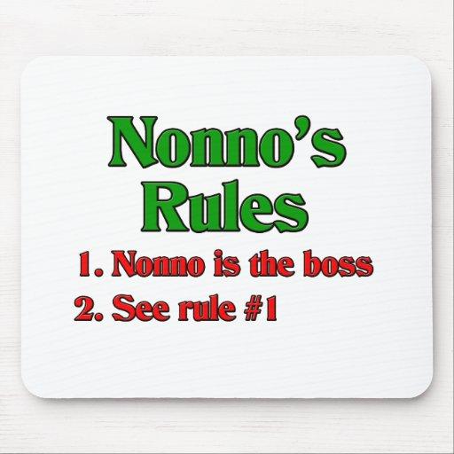 Nonno's (Italian Grandfather) Rules Mouse Pad