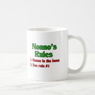 Nonno's (Italian Grandfather) Rules Classic White Coffee Mug